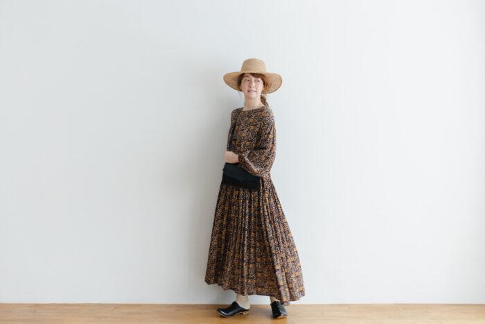 予約 R037 FLORAL DRESS black 5