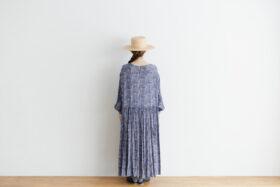予約 R037 FLORAL DRESS blue 3