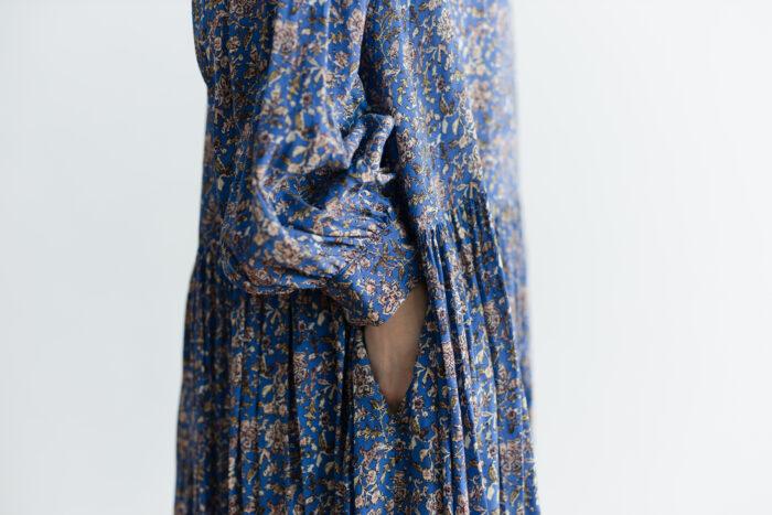 予約 R037 FLORAL DRESS blue 4