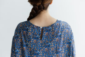 予約 R037 FLORAL DRESS blue 5