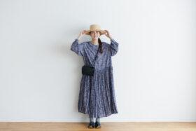 予約 R037 FLORAL DRESS blue 6
