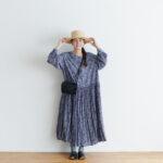 予約 R037 FLORAL DRESS blue