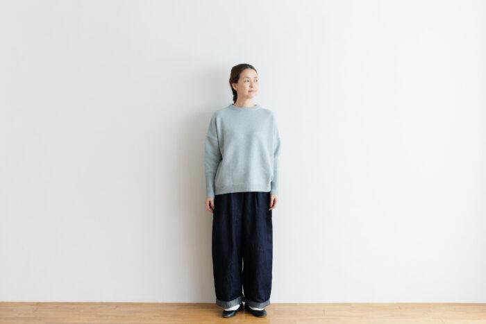 予約 R 053 merino wool KNIT light blue 1