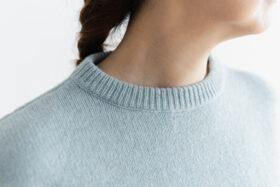 予約 R 053 merino wool KNIT light blue 4