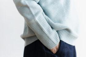 予約 R 053 merino wool KNIT light blue 5