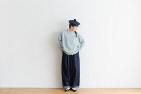 予約 R 053 merino wool KNIT light blue 6