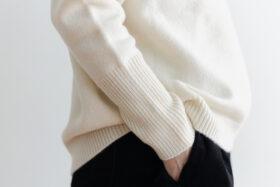 予約 R 053 merino wool KNIT off white 2