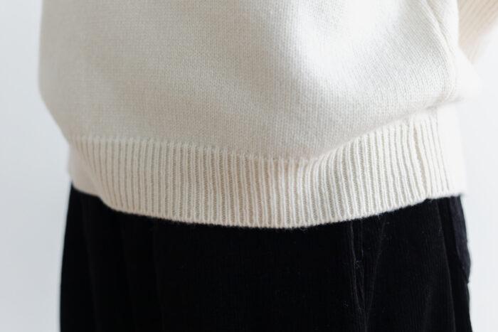 予約 R 053 merino wool KNIT off white 3