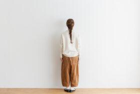予約 R 053 merino wool KNIT off white 5
