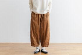 予約 G 668 CORDUROY SHORT CHARLIE PANTS mocha beige 1