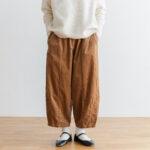 予約 G 668 CORDUROY SHORT CHARLIE PANTS mocha beige