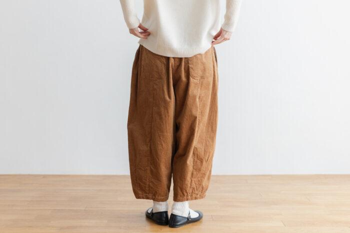 予約 G 668 CORDUROY SHORT CHARLIE PANTS mocha beige 2