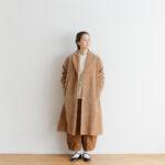 予約 R 043 SHAWL COLOR COAT beige
