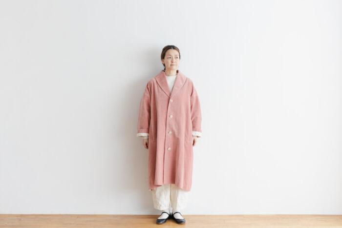 予約 R 043 SHAWL COLOR COAT pink 1