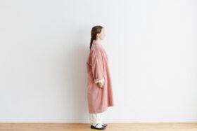 予約 R 043 SHAWL COLOR COAT pink 2