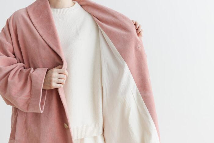 予約 R 043 SHAWL COLOR COAT pink 5