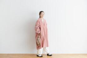 予約 R 043 SHAWL COLOR COAT pink 6