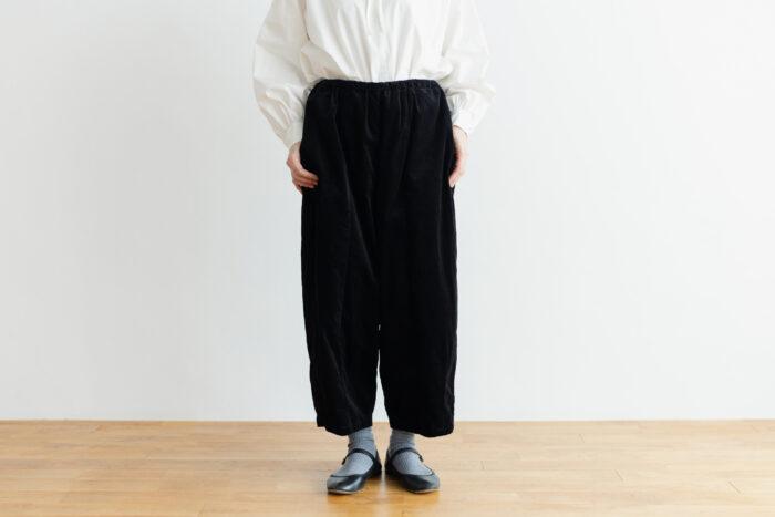 予約 G 668 CORDUROY SHORT CHARLIE PANTS black 1