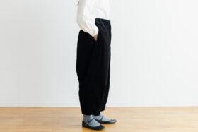予約 G 668 CORDUROY SHORT CHARLIE PANTS black 2