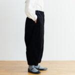 予約 G 668 CORDUROY SHORT CHARLIE PANTS black