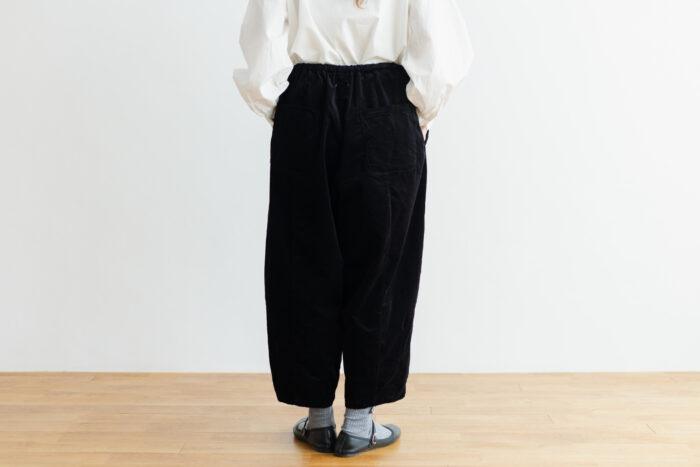 予約 G 668 CORDUROY SHORT CHARLIE PANTS black 3