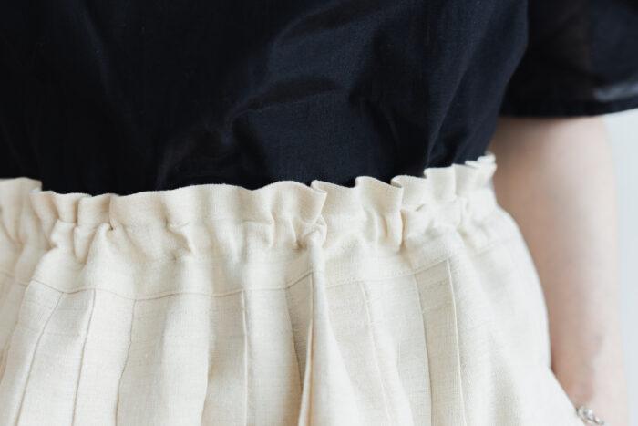 DENSELY LINEN TUCK SKIRT Antique white 4