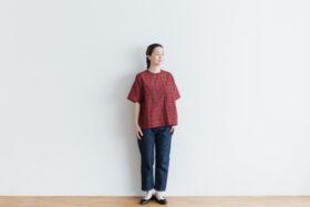 C/S PULLOVER SHIRT red tartan 3