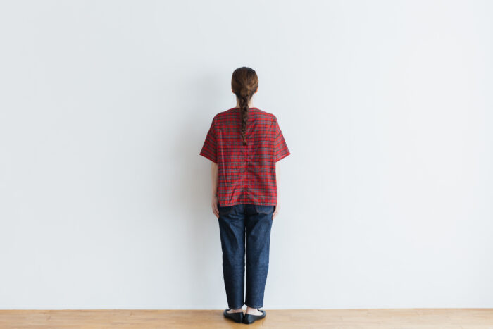 C/S PULLOVER SHIRT red tartan 5