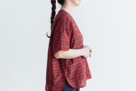 C/S PULLOVER SHIRT red tartan 6