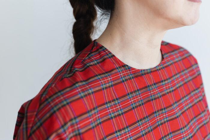C/S PULLOVER SHIRT red tartan 2