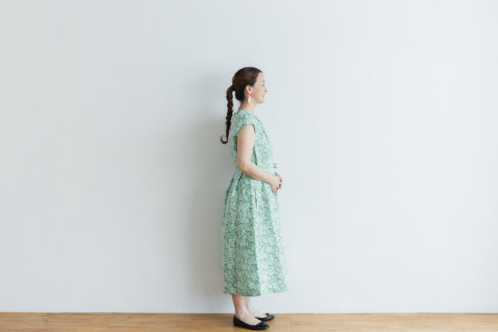 J/W/B NO SLEEVE DRESS green 2