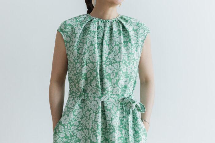 J/W/B NO SLEEVE DRESS green 4