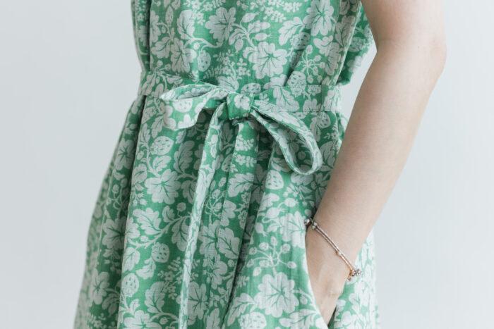 J/W/B NO SLEEVE DRESS green 5