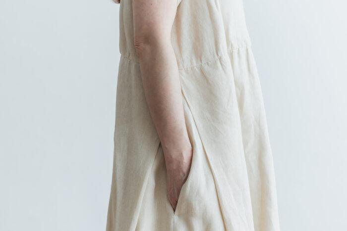 DENSELY LINEN PULL OVER DRESS 4