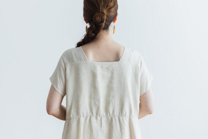 DENSELY LINEN PULL OVER DRESS 5