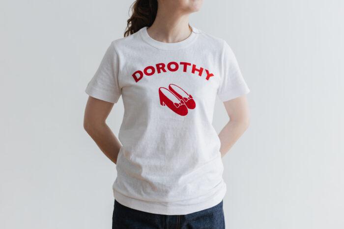 DOROTHY T-SHIRT white×red 1