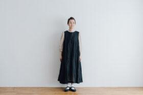 STEEL LINEN PULLOVER DRESS black 1