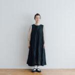 STEEL LINEN PULLOVER DRESS black
