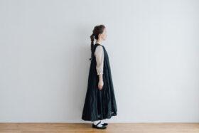 STEEL LINEN PULLOVER DRESS black 2