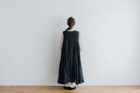 STEEL LINEN PULLOVER DRESS black 3