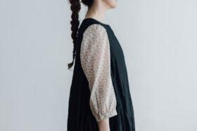 STEEL LINEN PULLOVER DRESS black 4
