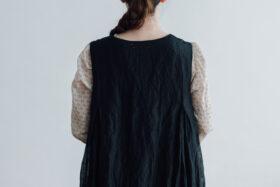STEEL LINEN PULLOVER DRESS black 5