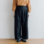 Wide Belt Tuck Pants