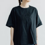 EMBROIDERY PULL OVER SHIRT black×black
