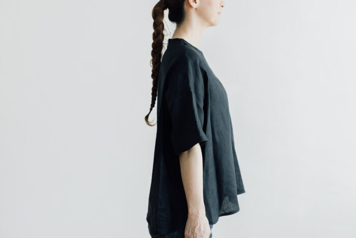 EMBROIDERY PULL OVER SHIRT black×black 2
