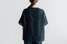 EMBROIDERY PULL OVER SHIRT black×black 3