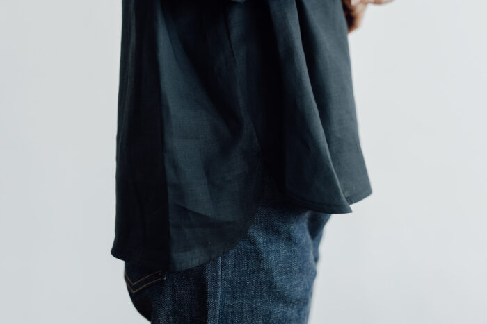 EMBROIDERY PULL OVER SHIRT black×black 5