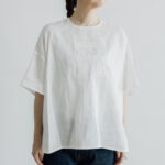 EMBROIDERY PULL OVER SHIRT white×white