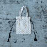 Embroidery Drawstring Bag L.gray