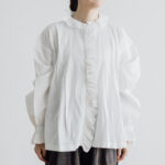 Embroidery Pintuck Blouse B.white